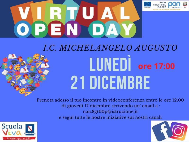OPENDAY VIRTUALE 21.12.2020